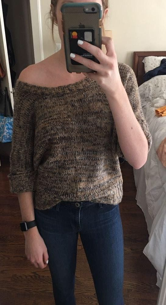 Slouchy Brown Sweater