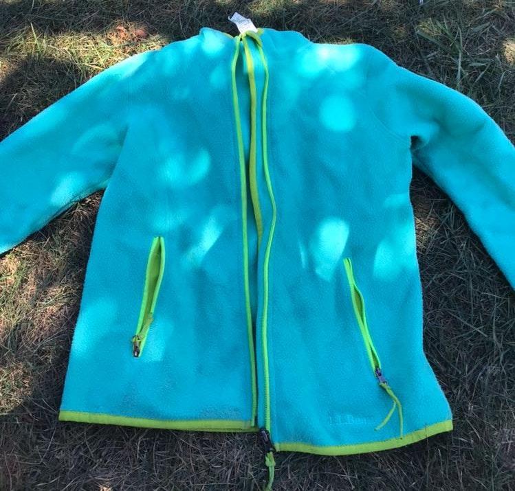L.L.Bean Blue & Green Zipup Coat