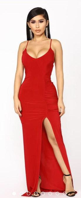 41829573f88 Fashion Nova Red Bodycon Formal Dress