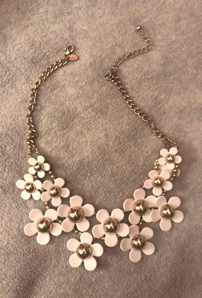 White Poppy Necklace