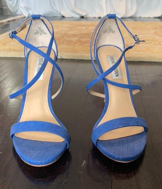 2bfea26c90e Steve Madden Blue Snakeskin Heels