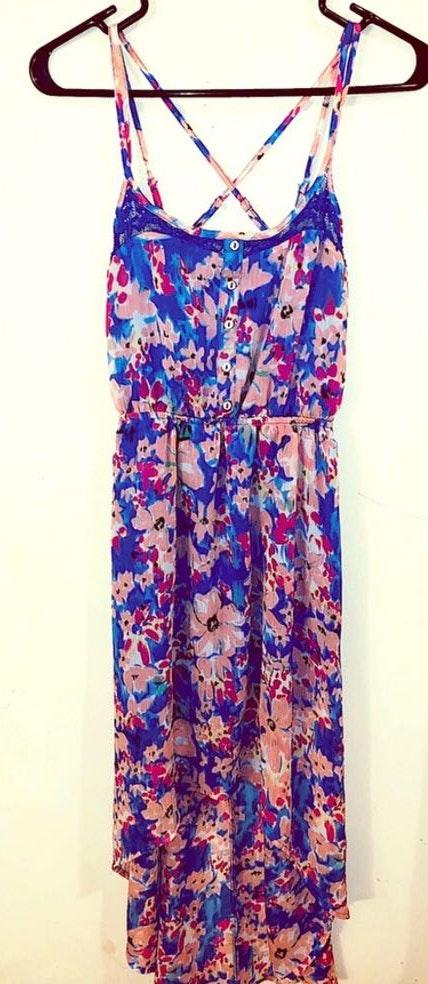 Candie's Floral High-Low Maxi Dress