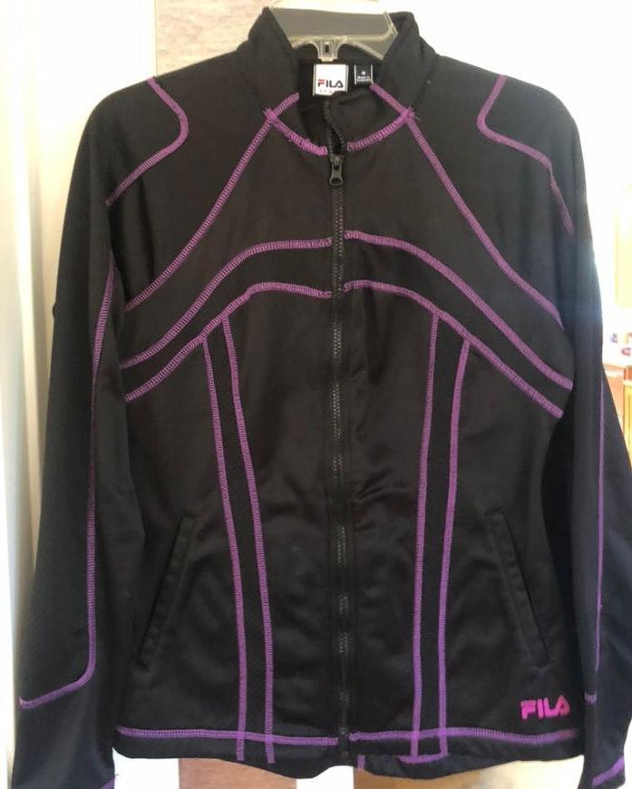 FILA Purple Lined Zip Up