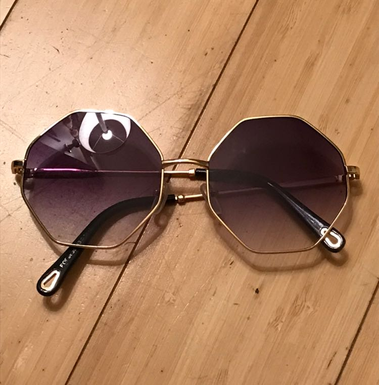 Gold Octagon Sunglasses