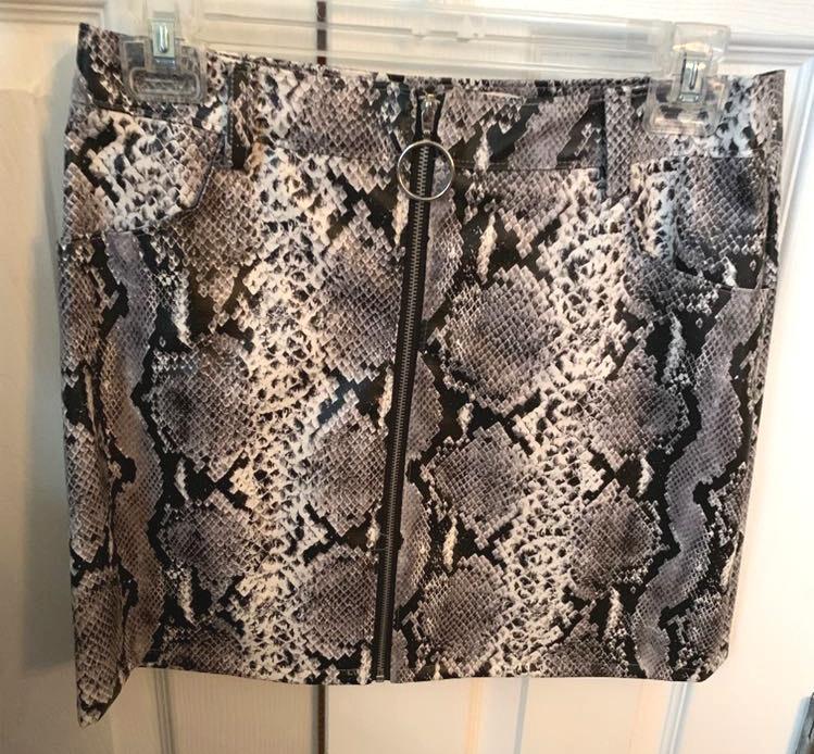 Wild Honey Leather Skirt