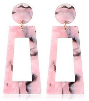 BaubleBar Pink Marble  Statement Earrings