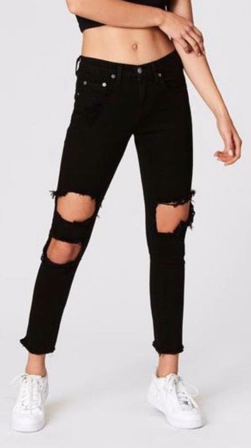 Carmar Denim Black Cutout Jeans