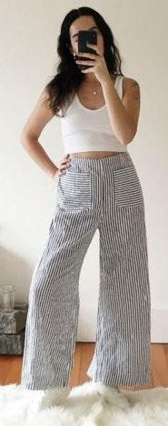 Urban Outfitters stripped flow pants