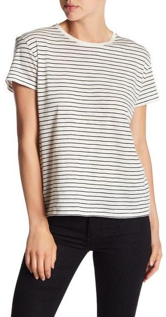 Vince Camuto Cotton Striped Relaxed Tee