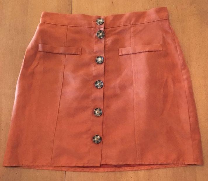 Pull & Bear Felt Red/orange Skirt