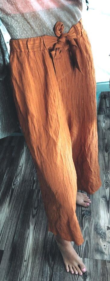 Nordstrom burnt orange flowy pants