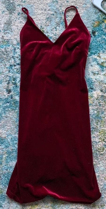 Amazon Red Velvet Bodycon Dress