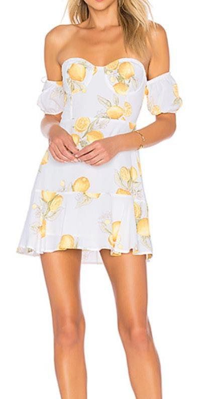For Love & Lemons Lemons Dress