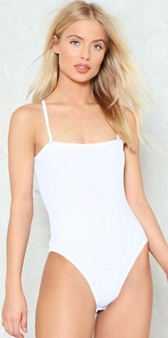 Nasty Gal White Bodysuit