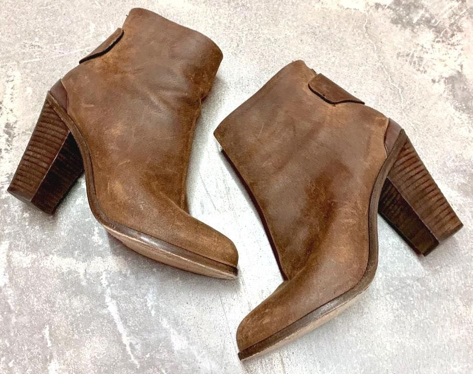 Rag & Bone Brown Leather Heeled Ankle Boots