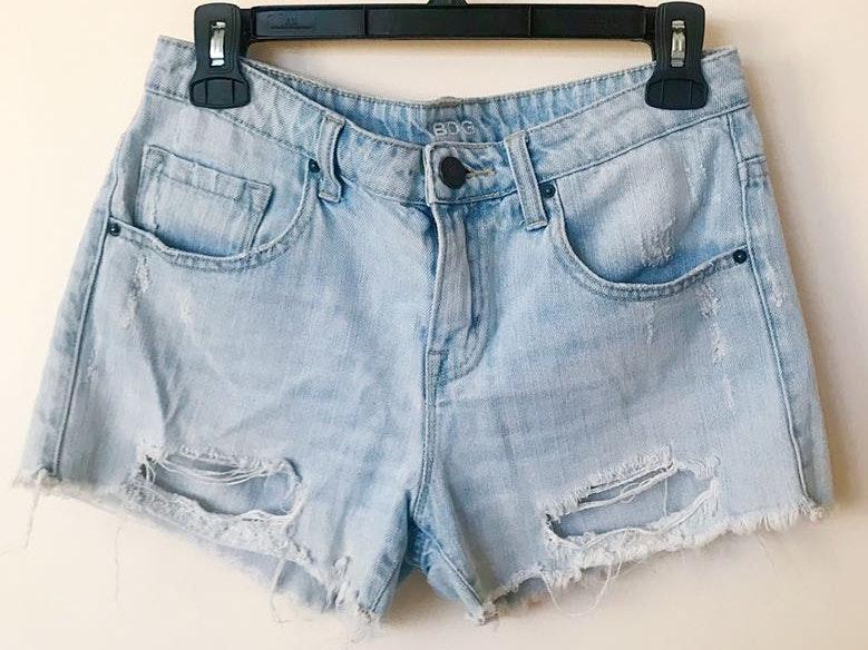 BDG Mid Waist Distressed Denim Shorts