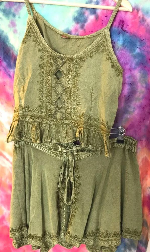 Folk Tank And Skirt Set