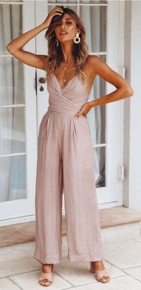 Hello Molly Right From The Start Jumpsuit Mocha