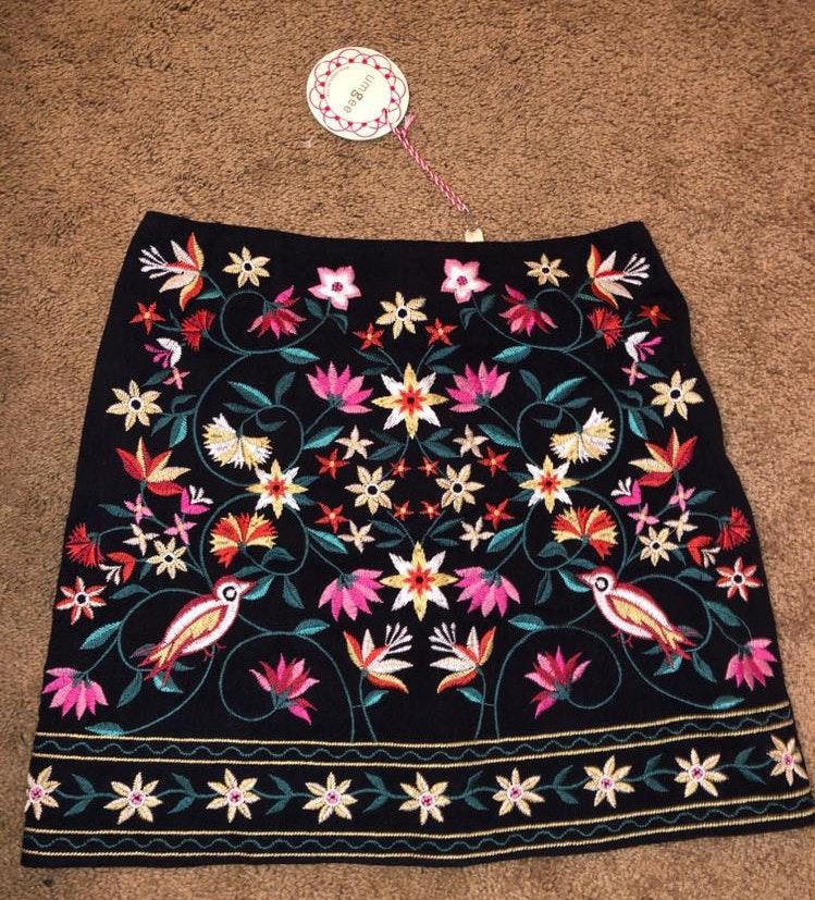 Umgee Floral Skirt