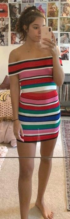 American Threads colorful striped set