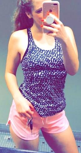 Lululemon Black & White Work Out Top