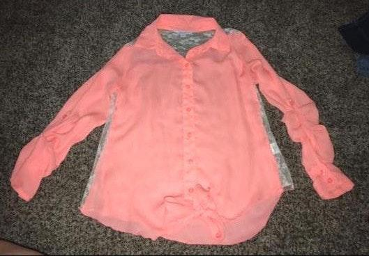 Candie's Lace Button Up