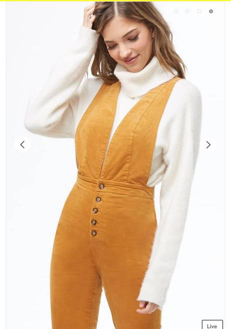 Forever 21 70's Overall Jumpsuit