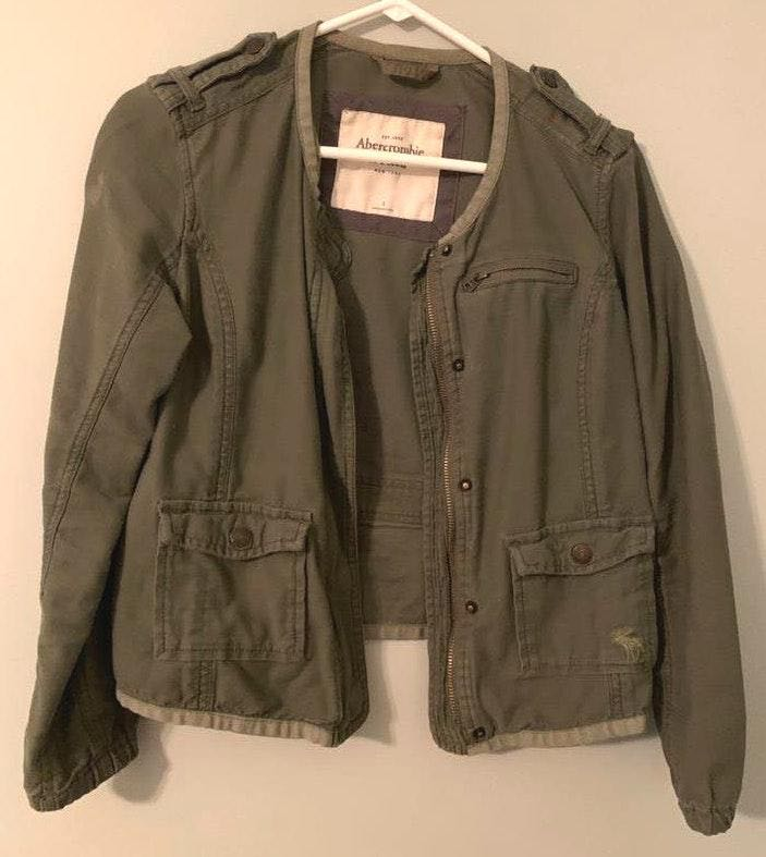 Abercrombie & Fitch Green Army Jacket