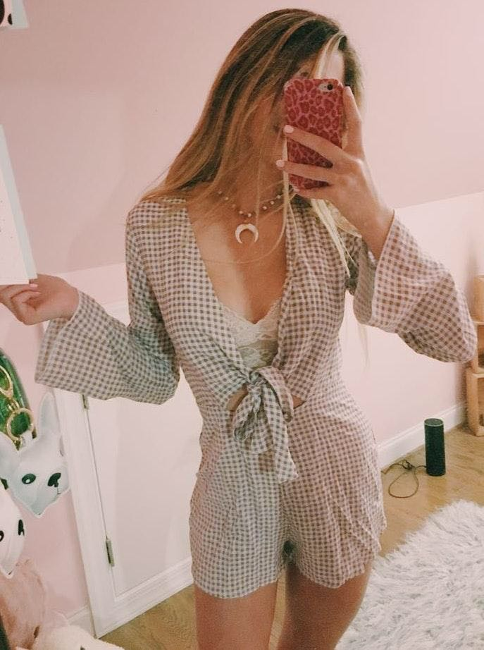 Cousin Couture gingham romper
