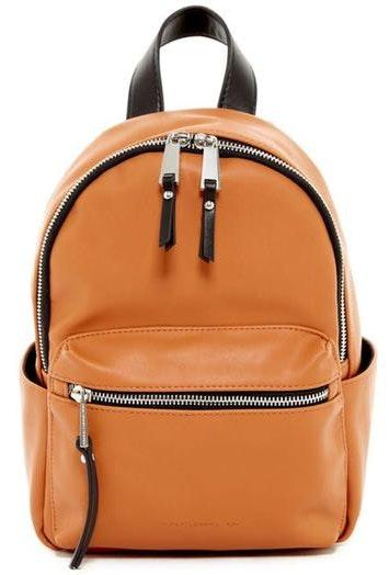 Nordstrom Leather Chestnut Backpack with Brown and Gold Zip