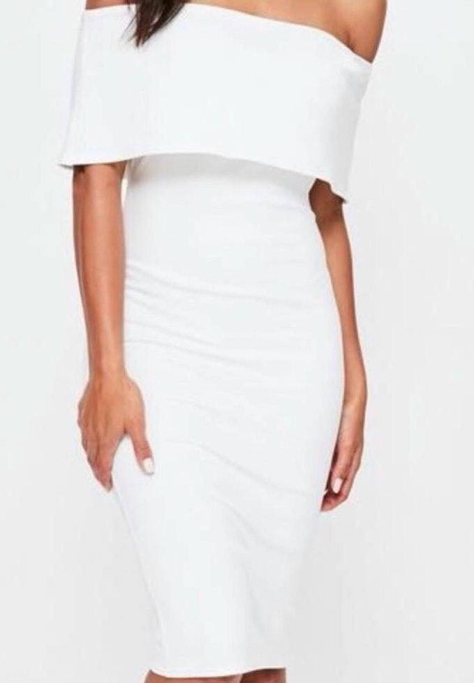 Missguided white midi dress