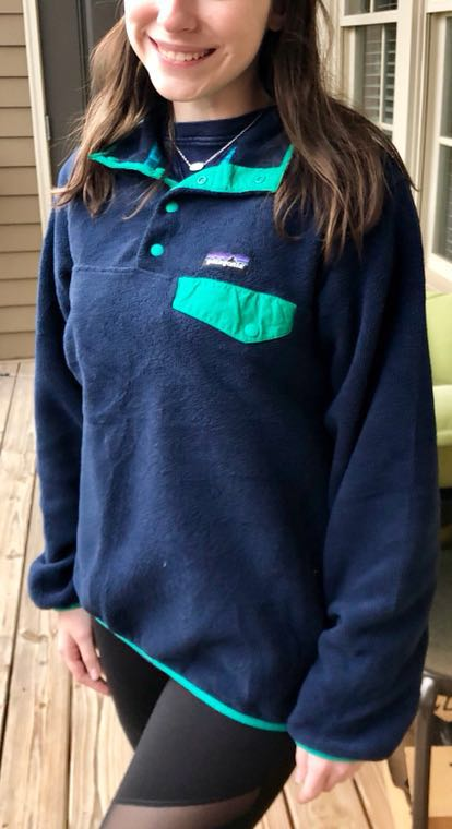 Patagonia Navy/Turquoise Pullover