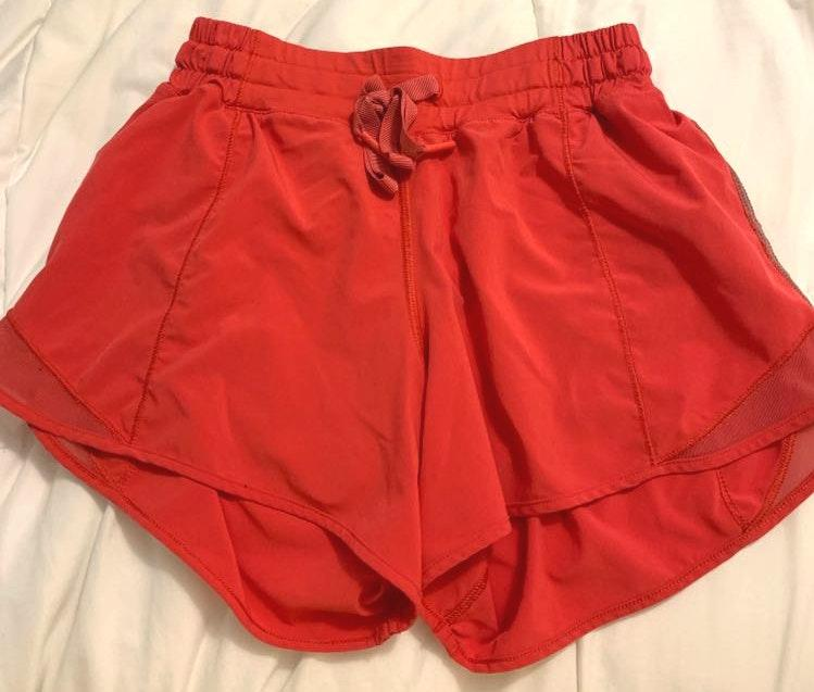 Lululemon dark pink athletic shorts