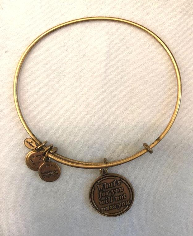 ALEX AND ANI What's For You Will Not Pass You Bracelet