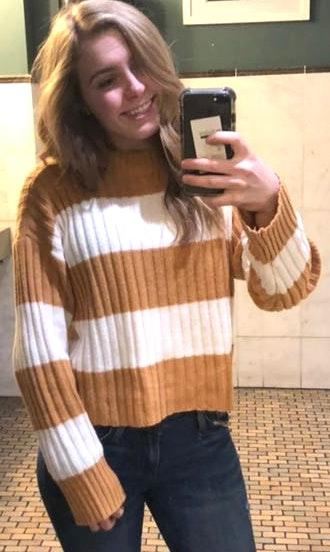American Eagle Outfitters Striped Crop Top