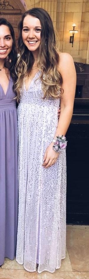 Lulus Lavender Sequin Maxi PROM Dress