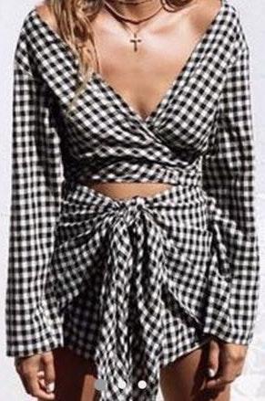 Sabo Skirt Gingham Set