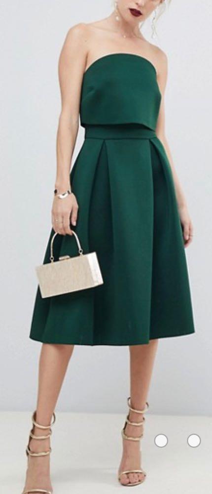 ASOS Green Strapless Dress