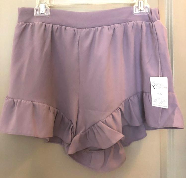 Catolog Connection Ruffle Shorts
