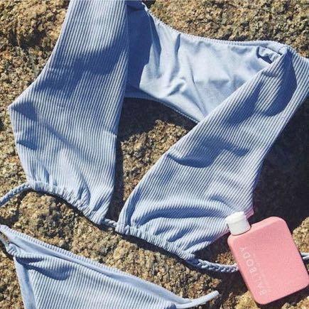 Frankie's Bikinis Ribbed Shea Top