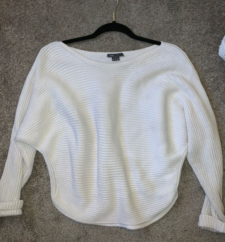 Vince Slouchy White Sweater