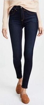 Rag & Bone High Rise Skinny Dark Wash Jean