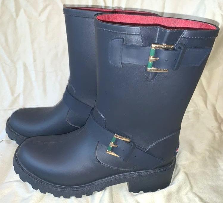 Tommy Hilfiger Navy Blue Rain Boots