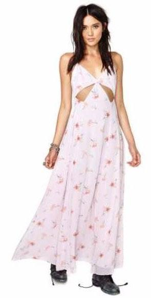 Nasty Gal Nastygal Floral Cutout Maxi Dress
