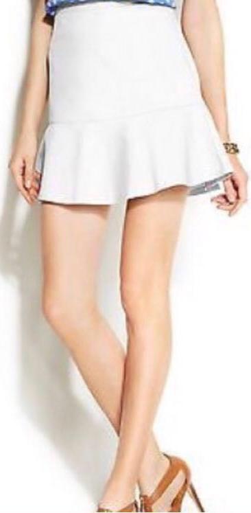 White Flounce Skirt