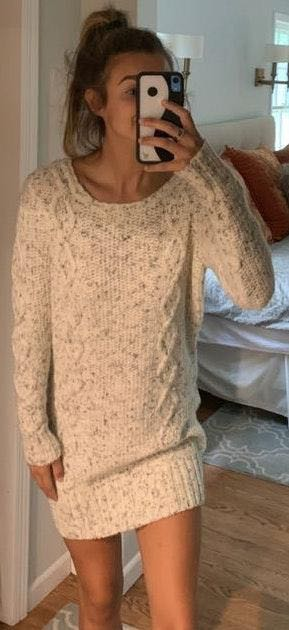 American Eagle Outfitters White Sweater Dress