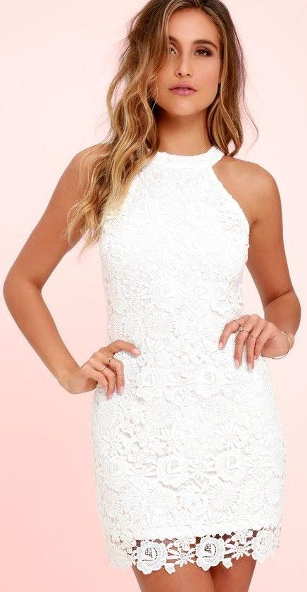 66a60d222b Lulus White Lace Dress