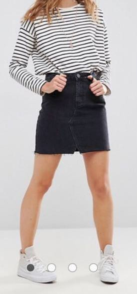 ASOS Black Denim Skirt