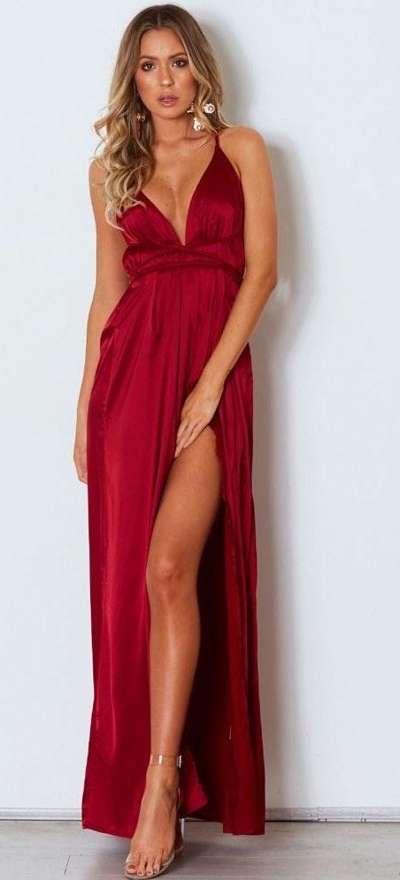 White Fox Boutique Aleka Red Maxi Dress