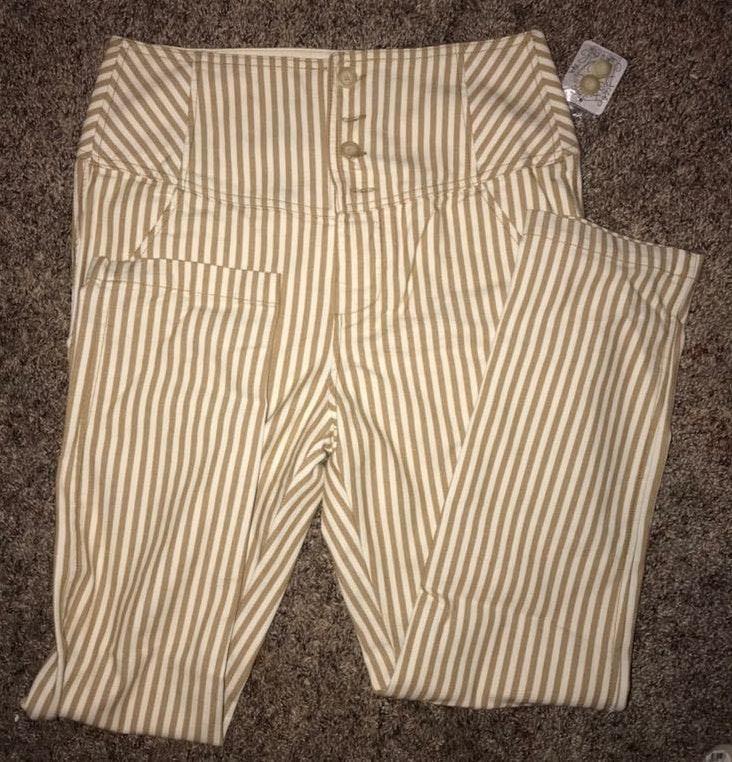 Free People Striped Pants